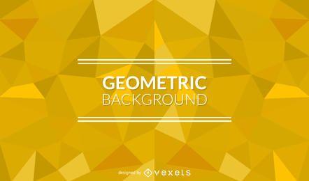 Fundo geométrico com formas poligonais amarelo