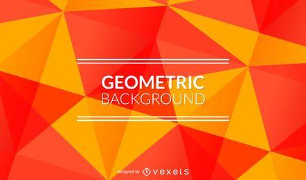 Heller orange und roter polygonaler Hintergrund