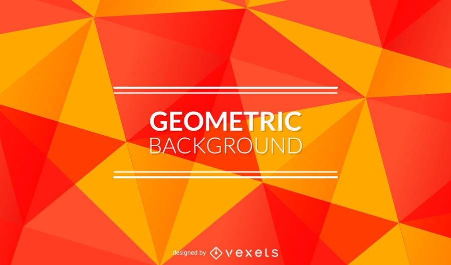 Bright orange and red polygonal background