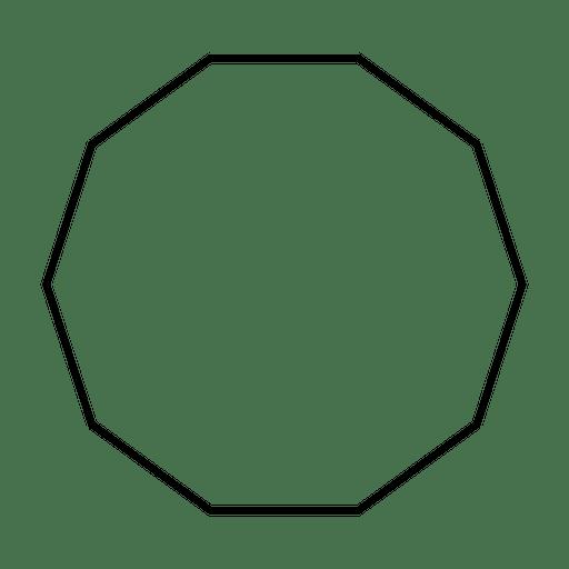 Forma de decágono