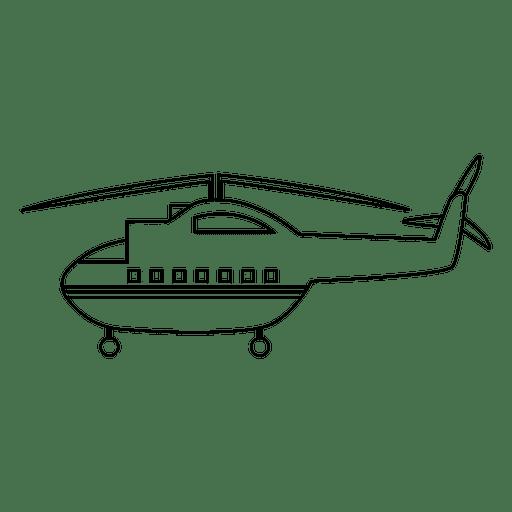 Helicóptero silueta de transporte. Transparent PNG