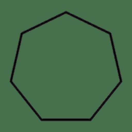 Heptagon geometric shape outline - Transparent PNG & SVG vector