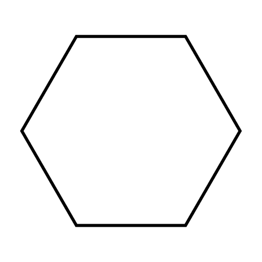 Hexagon shape stroke icon Transparent PNG