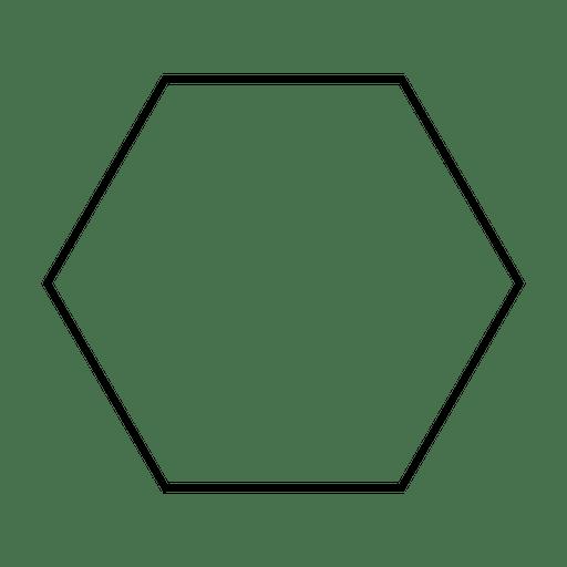 Icono de trazo de forma hexagonal