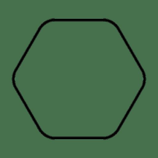 Forma hexagonal redondeada