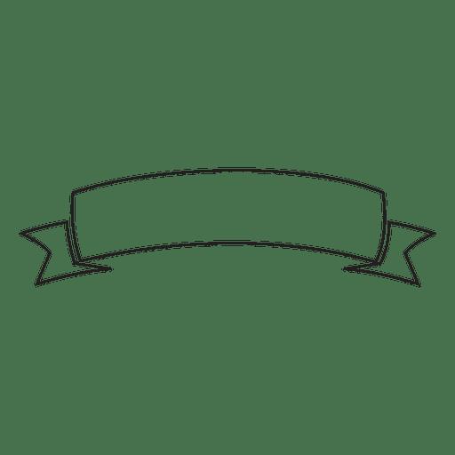 Stroke label emblem ribbon