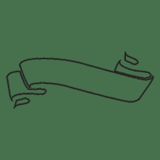 label ribbon outline transparent png svg vector