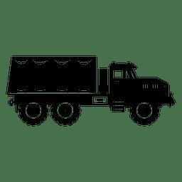 Große LKW-Transportkontur silhouette.svg
