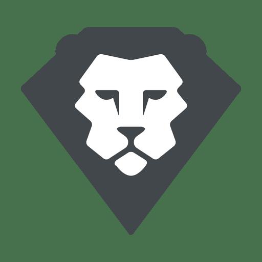 Lion flat logo safari