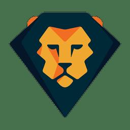 Logotipo geométrico do logotipo do leão
