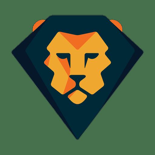 Safari con logo de león geométrico