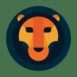 Safari de logotipo de leão de círculo