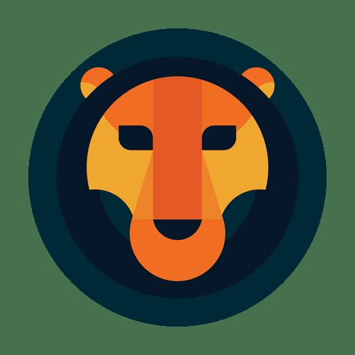 Circle lion logo safari