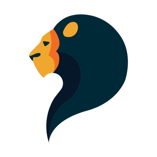 Flat lion logo safari