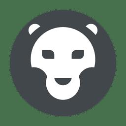 Lion safari do logotipo em cinza