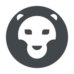 Safari de logotipo de leão em cinza