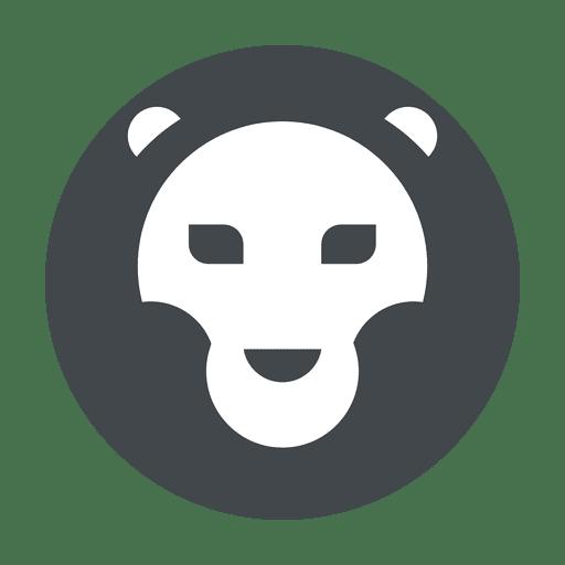 Logo del león safari en gris Transparent PNG