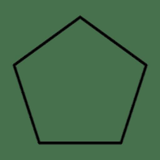 Forma de trazo del Pentágono