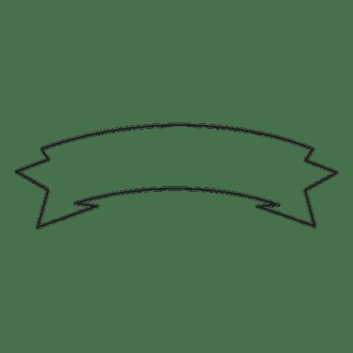 Retro ribbon label emblem drawing Transparent PNG