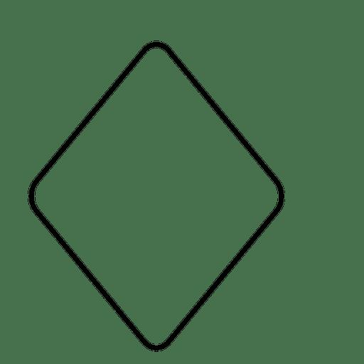 Rhombus outline