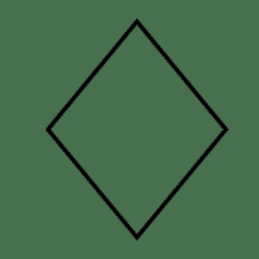 Icono de forma de rombo