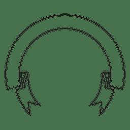 Ribbon label emblem