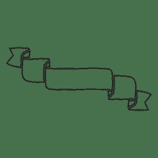 Minimalist Ribbon Label Emblem Transparent PNG