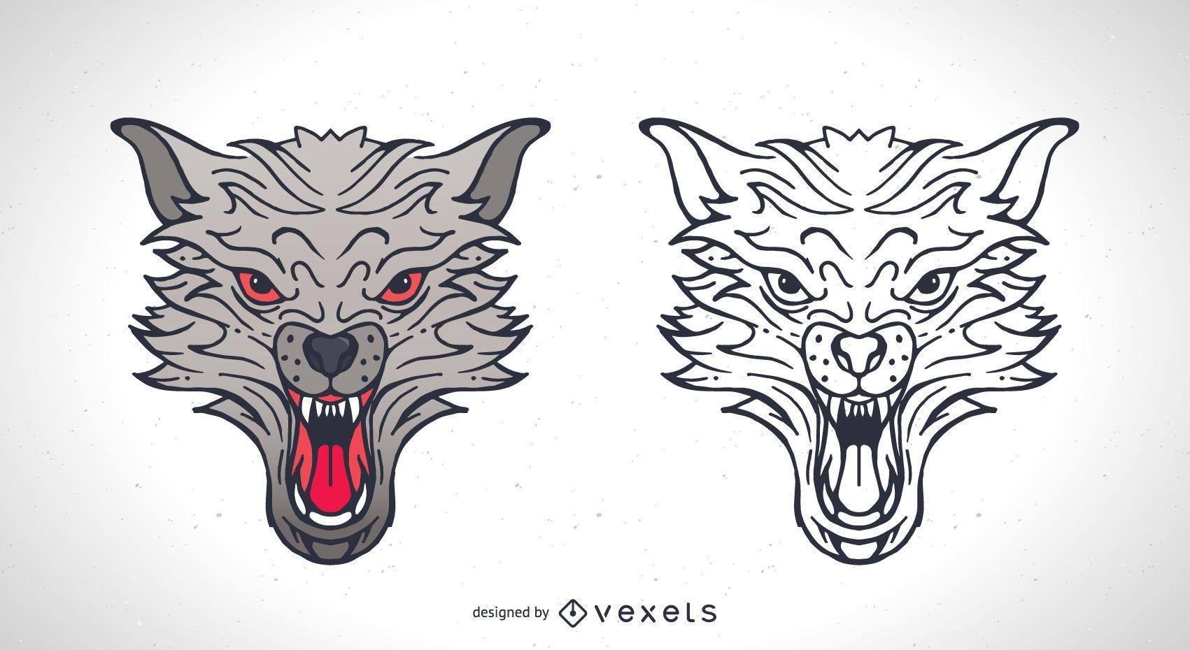 Dois vetores de lobo