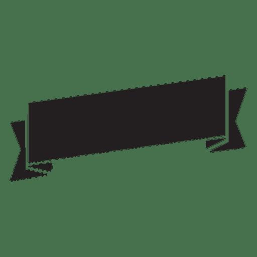 Gray ribbon label emblem