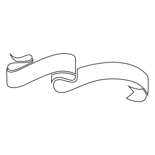 Curled Ribbon Label Emblem Transparent PNG