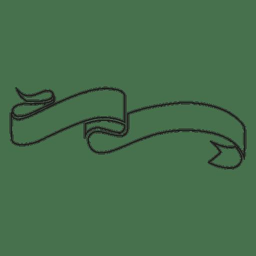Curled Ribbon Label Emblem