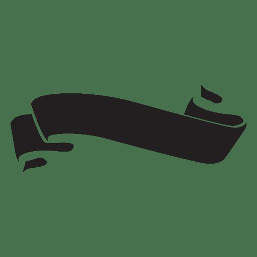 Ribbon label emblem wavy - Transparent PNG & SVG vector