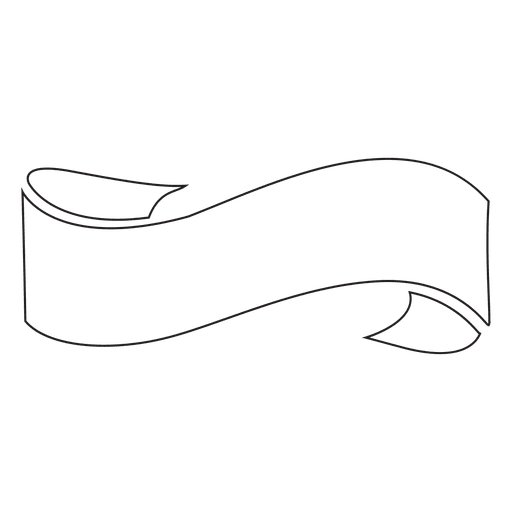 Ribbon label emblem wavy stroke - Transparent PNG & SVG vector