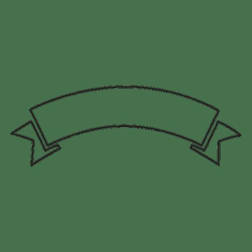 Vintage Ribbon Banners: Emblema De Etiqueta De Cinta De L Nea Delgada
