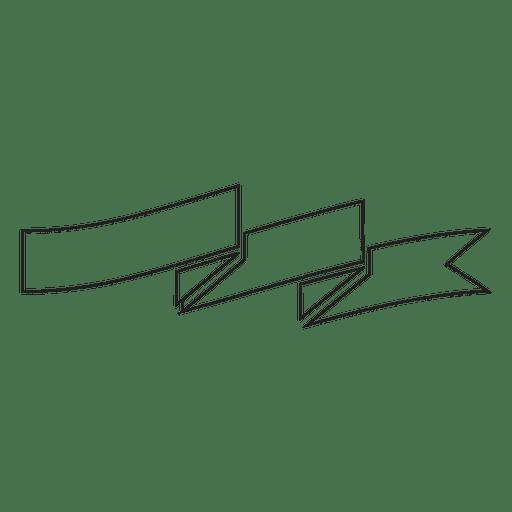 Folded Ribbon Label Emblem