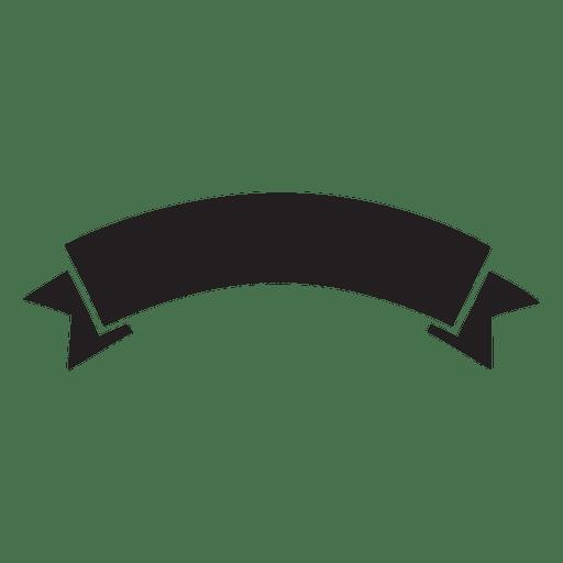 Ribbon label emblem retro silhouette