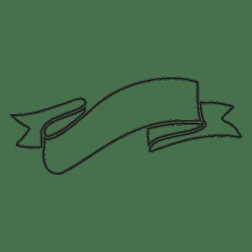 Emblema retrô de linha fina de traçado de fita Transparent PNG