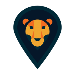 Logotipo de león safari