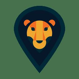 Logotipo do leão do safari