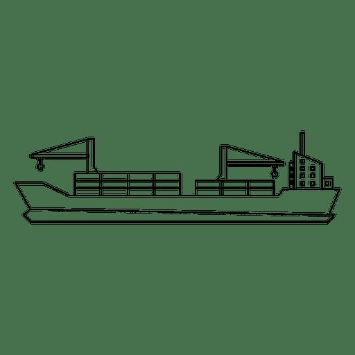 Schiffskonturtransport Transparent PNG