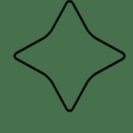 Polígono estrela arredondada Transparent PNG