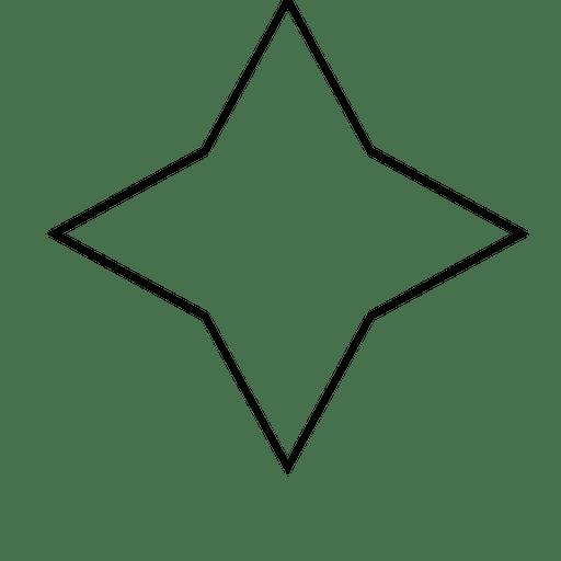 Contorno do polígono da estrela Transparent PNG