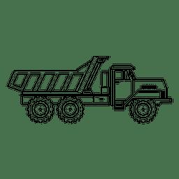 Thin stroke truck silhouette