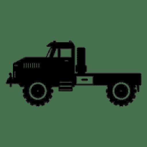 Lado del tractor negro Transparent PNG