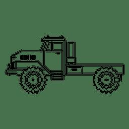 Tractor silhouette stroke