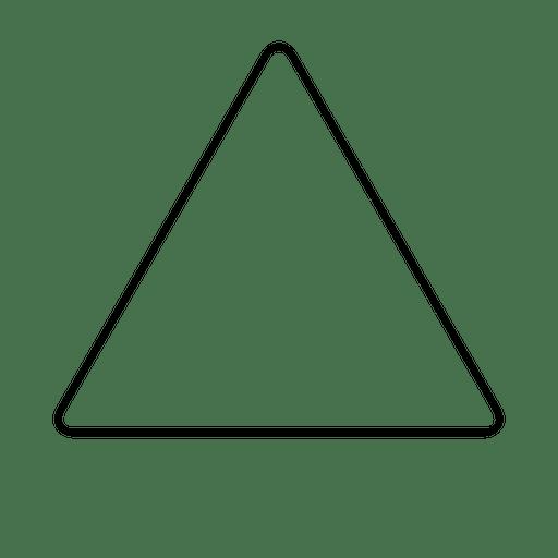 Trazo de esquina redondeada en forma de triángulo
