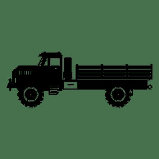Truck contour Transparent PNG