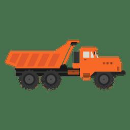 la construcción de la logística de camiones
