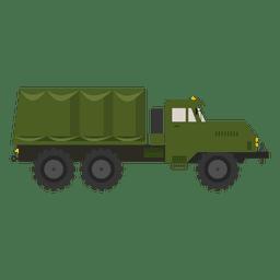 Camion militar de silueta