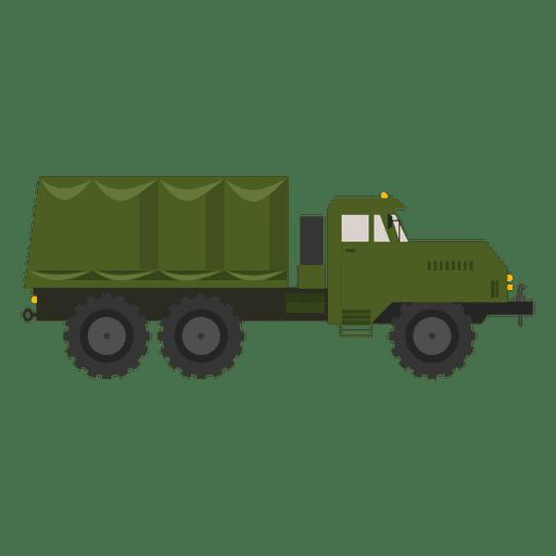 Camion militar de silueta Transparent PNG